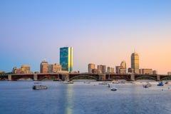 波士顿马萨诸塞地平线看法  库存图片