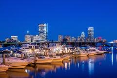 波士顿马萨诸塞地平线看法  图库摄影