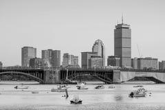 波士顿马萨诸塞地平线看法  库存照片