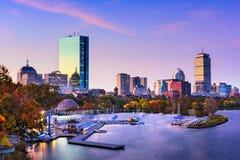波士顿马萨诸塞地平线 免版税库存照片