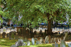 波士顿马萨诸塞粮仓坟场 库存图片