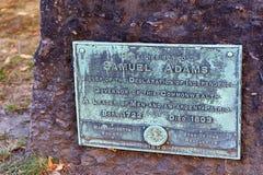 波士顿马萨诸塞粮仓坟场 免版税库存图片