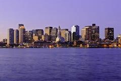 波士顿黎明马萨诸塞地平线 免版税库存照片