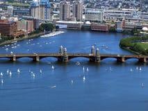 波士顿,美国全景  免版税库存照片