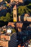 波士顿,美国顶视图  免版税图库摄影