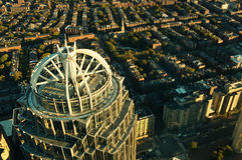 波士顿,美国顶视图  库存照片