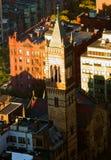 波士顿,美国顶视图  免版税库存图片