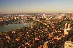 波士顿,美国顶视图  免版税库存照片