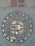 波士顿,马萨诸塞自由足迹  免版税图库摄影