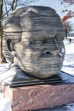 波士顿,马萨诸塞- 2014年1月04日:波士顿公园和亚瑟Fiedler纪念品 库存照片