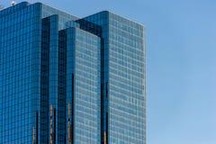 波士顿,马萨诸塞- 2014年1月04日:波士顿摩天大楼 玻璃反射 背景 免版税库存照片