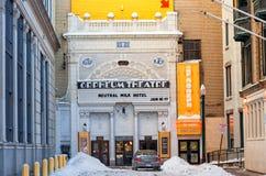 波士顿,马萨诸塞- 2014年1月04日:Orpheum剧院 Orpheum剧院是音乐地点在1个哈密尔顿地方位于猜错 图库摄影