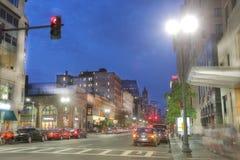 波士顿,马萨诸塞- 2016年9月10日:t的街市波士顿 库存图片