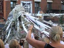 波士顿,麻省,美国, 2012年8月28日:圣安东尼` s宴餐Nort 免版税图库摄影