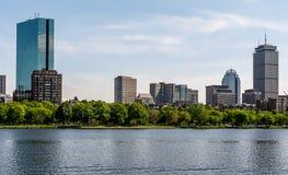 波士顿,从查理斯河的剑桥 库存照片