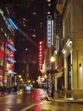波士顿,麻省,街市夜照片 库存照片