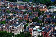 波士顿,麻省:后面海湾的看法 库存照片