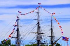 波士顿, USS宪法 图库摄影