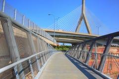 波士顿, Zakim邦克山纪念品桥梁 免版税库存照片