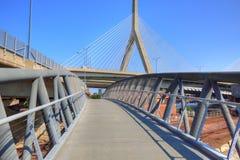 波士顿, Zakim邦克山纪念品桥梁 库存图片