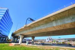 波士顿, Zakim邦克山纪念品桥梁 免版税库存图片