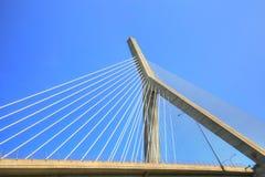 波士顿, Zakim邦克山纪念品桥梁 库存照片