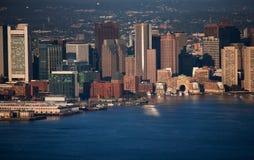 波士顿财务区 免版税库存图片