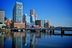 波士顿财政区  免版税库存照片