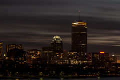 波士顿黄昏地平线 库存照片