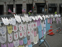 波士顿2013年马拉松纪念品-强的波士顿 图库摄影