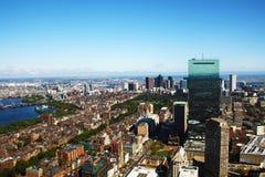波士顿Arial全景, Ma,美国 图库摄影