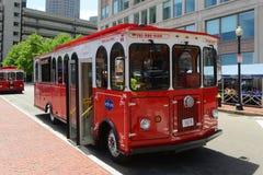波士顿Beantown台车游览,马萨诸塞,美国 库存图片