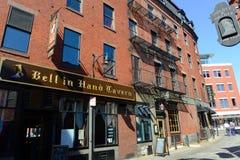 波士顿Blackstone块,马萨诸塞,美国 免版税库存照片