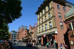 波士顿Blackstone块,马萨诸塞,美国 免版税库存图片