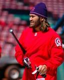 波士顿damon约翰尼・ Red Sox 免版税库存图片