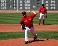 波士顿jon lester Red Sox 免版税库存图片