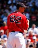 波士顿jon lester Red Sox 库存照片
