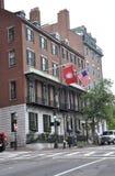 波士顿Ma, 6月30日:从波士顿的东北大学大厦街市在Massachusettes国家的美国 免版税图库摄影