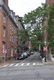 波士顿Ma, 6月30日:从波士顿的街道视图街市在Massachusettes国家的美国 库存图片