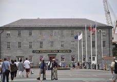 波士顿Ma, 6月30日:USS从Charlestown的宪法博物馆在Massachusettes国家的美国 库存照片