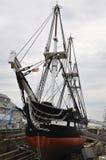 波士顿Ma, 6月30日:USS从Charlestown造船厂波士顿的宪法大型驱逐舰Massachusettes国家的美国 库存图片
