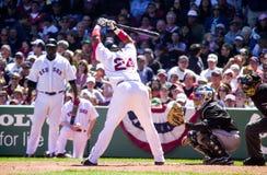 波士顿manny拉米雷斯・ Red Sox 库存图片