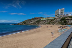 波多诺伏海滩在Lourinha,葡萄牙 免版税库存照片