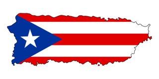 波多里哥 波多黎各传染媒介例证地图  库存例证