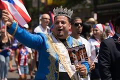 波多黎各人人民的游行 免版税库存图片
