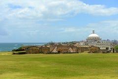 波多黎各国会大厦,圣胡安,波多黎各 免版税库存照片