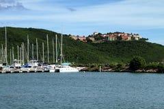 波多黎各小游艇船坞 库存图片