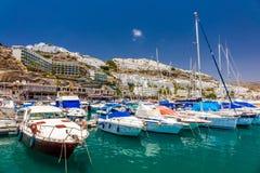 波多黎各小游艇船坞 免版税图库摄影