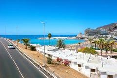 波多黎各的村庄 canaria gran 西班牙 免版税库存图片