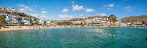 波多黎各的海滩 canaria gran 西班牙 图库摄影